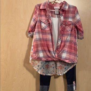 Girls' shirt pant outfit